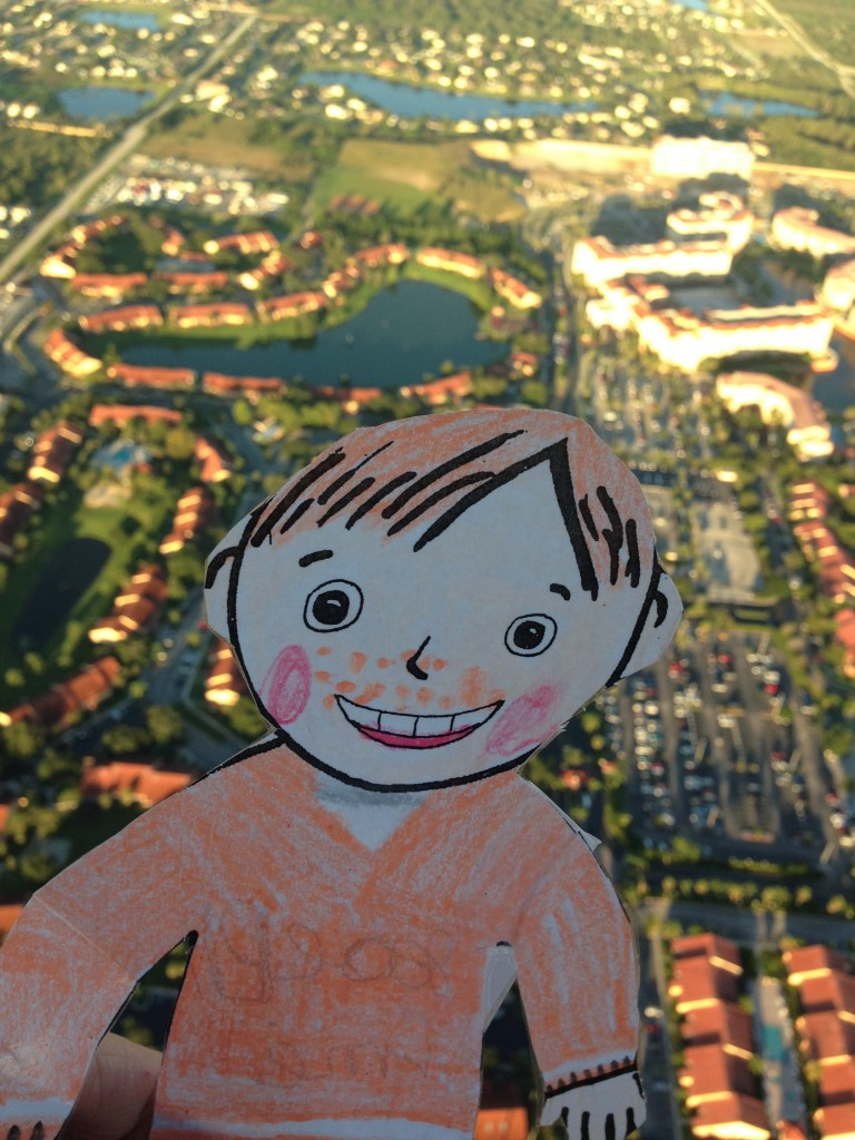 Orlando Hot Air Ballon Rides with Ronnie Affee Flat Stanley